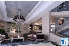 Phòng khách cổ điển Châu Á lộng lẫy xa hoa đẳng cấp