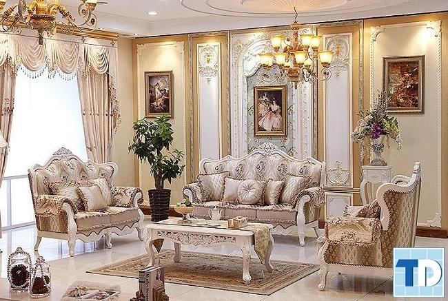 Phòng khách cố điển châu âu sang trọng