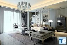 Các thiết kế tân cổ điển với phòng khách cổ điển Châu Âu đẳng cấp