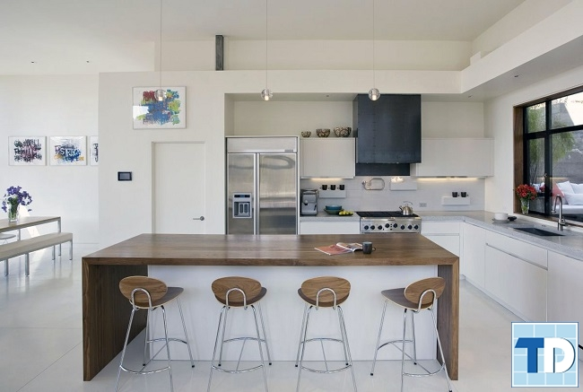 Phòng bếp trang nhã với đầy đủ tiện nghi