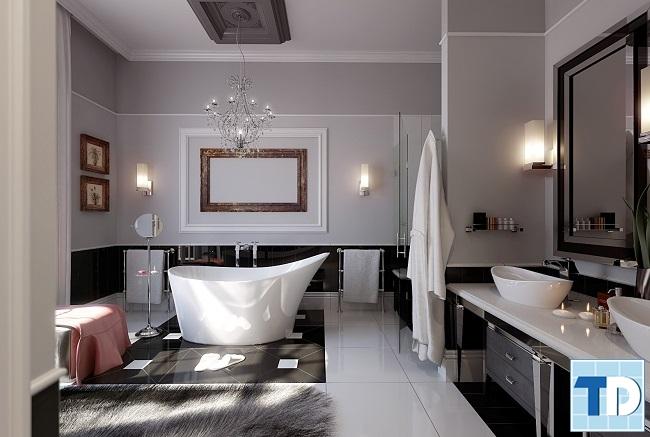 Phòng tắm tiện nghi với nội thất cao cấp