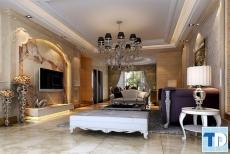 Chiêm ngưỡng tinh tế mẫu phòng khách tân cổ điển sang trọng ấn tượng