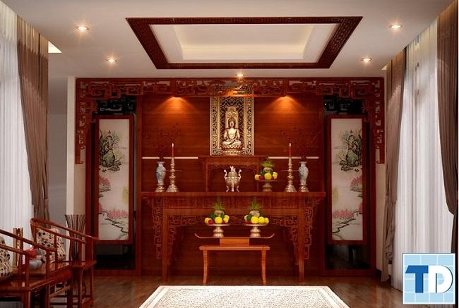 Nội thất phòng thờ hiện đại