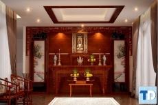 Các mẫu thiết kế nội thất phòng thờ đẹp hiện đại