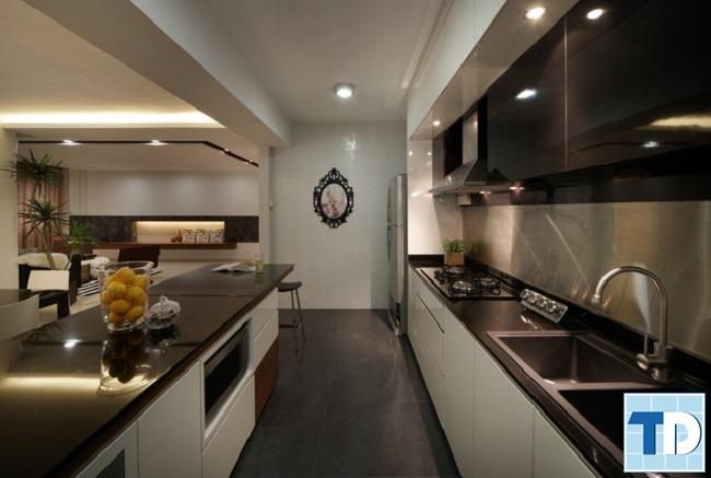 Phòng bếp hiện đại với nội thất cao cấp