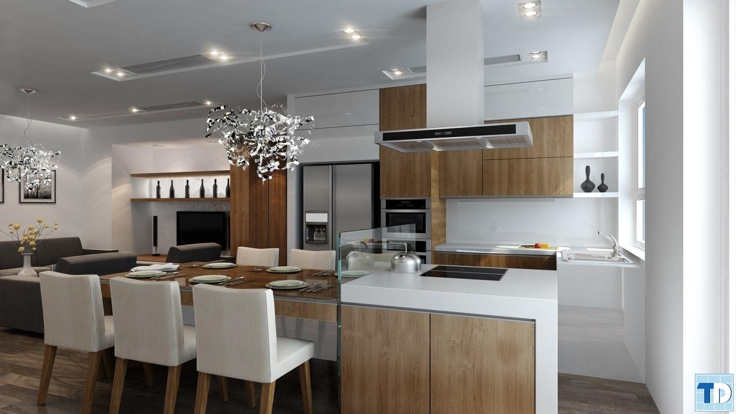 Phòng bếpKhu chung cư cao cấpHòa Bình Green 505 Minh Khai