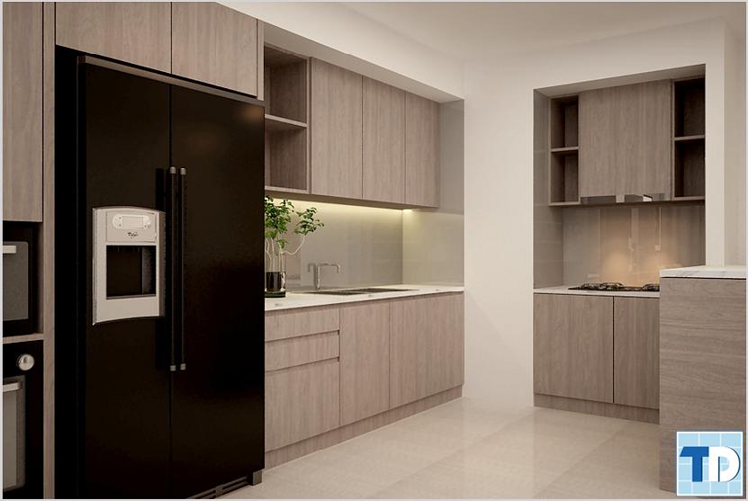 Phòng bếpnhà Anh Trường phòng N1012 Khu chung cư cao cấp Vinhomes 56 Nguyễn Chí Thanh