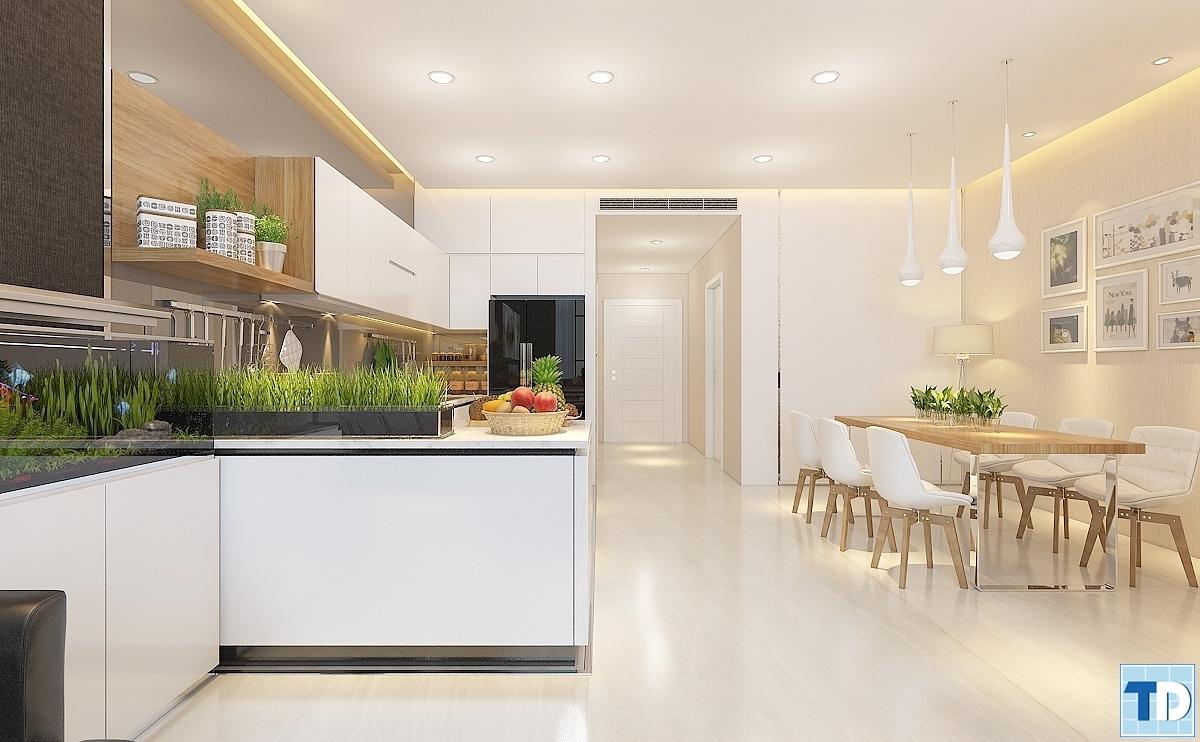 Phòng bếpnhà Anh Thành phòng A3704 Khu chung cư cao cấp Thăng Long Number One
