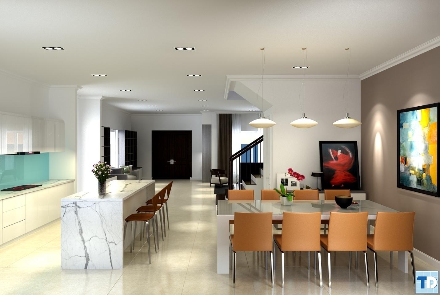 Phòng bếpnhà Anh Hà biệt thự số 16 Đường Hoa Sữa - Vinhome Riverside