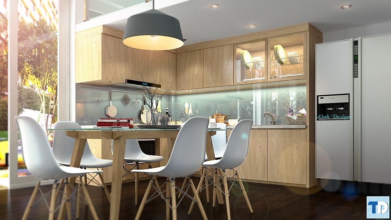 Phòng bếpnhà Anh Hiền Khu biệt thự liền kề Thành Phố Điện Biên