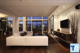 Thiết kế nhà đẹp với nội thất phòng khách đẹp sang trọng hiện đại
