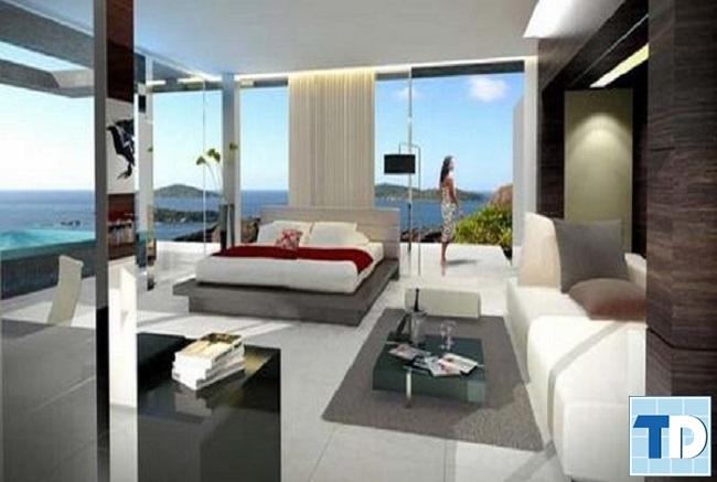Thiết kế mở cho không gian phòng ngủ