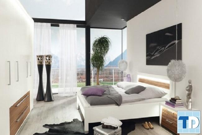 Phòng ngủ phá cách trong cách phối màu