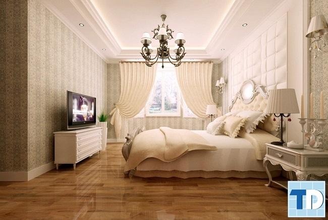 Mẫu giường ngủ sang trọng với hoa văn tinh xảo