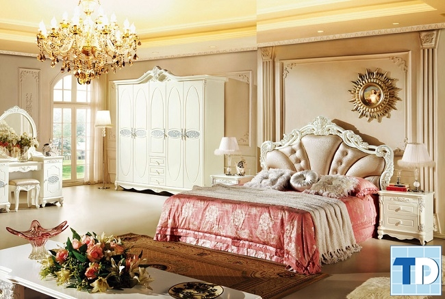 Giường ngủ tân cổ điển cao cấp