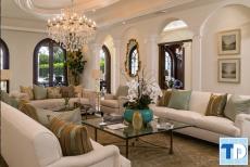 Mẫu thiết kế nội thất nhà phố tân cổ điển đẳng cấp phong cách Châu Âu