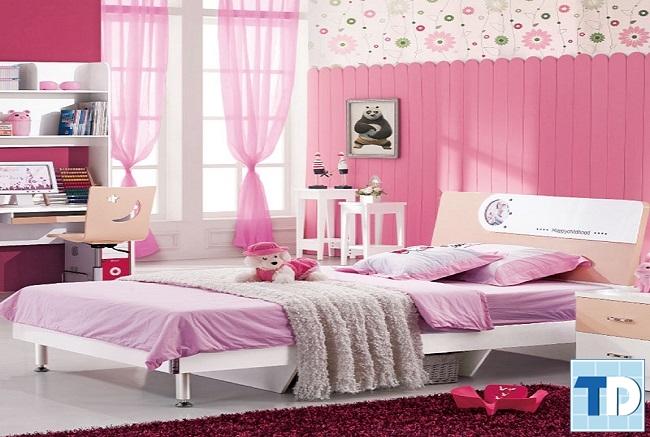 Phòng ngủ bé gái xinh xắn đáng yêu
