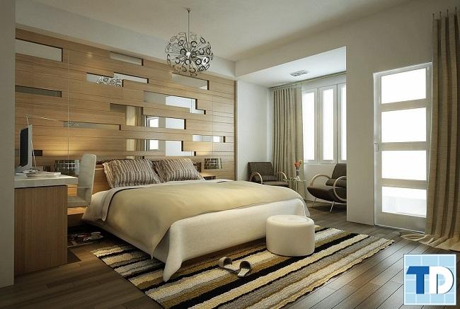 Phòng ngủ master yên tĩnh, mộc mạc