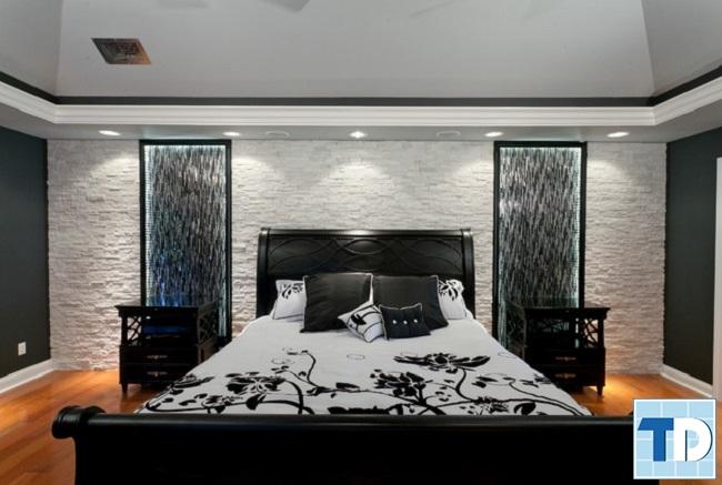Phòng ngủ master với màu đen lịch lãm
