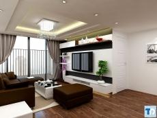 Thiết kế nội thất căn hộ chung cư 80m2 tại khu Sudico Mỹ Đình Sông Đà