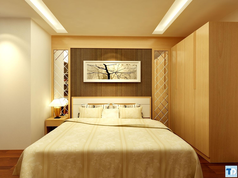 Phòng ngủ càng trở nên đắt giá với những món đồ trang trí ánh vàng