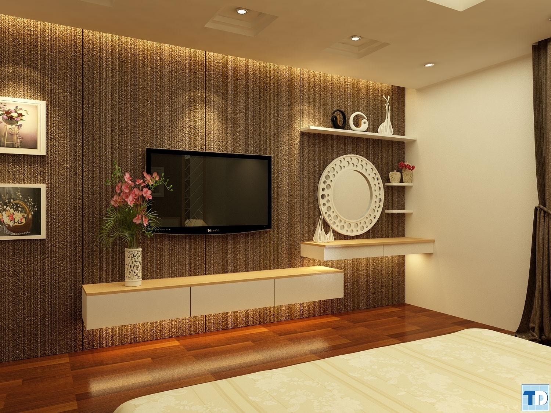 Phòng ngủ với tông màu tối ấm cúng