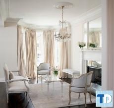 Mẫu nội thất phòng khách nhà ống đẹp mặt tiền 4m tân cổ điển