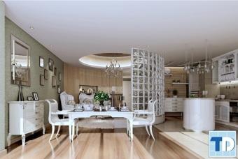 Căn hộ mẫu thiết kế tân cổ điển -  nội thất nhà phố sang trọng