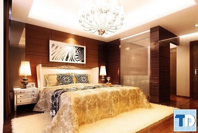 Phòng ngủ master ấm cúng, lãng mạn