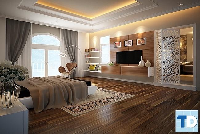 Phòng ngủ con trai với tone màu trầm