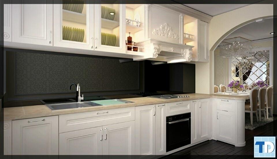 Không gian bếp tân cổ điển sang trọng