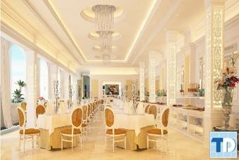 Nội thất nhà hàng tân cổ điển đẹp sang trọng cuốn hút mọi ánh nhìn