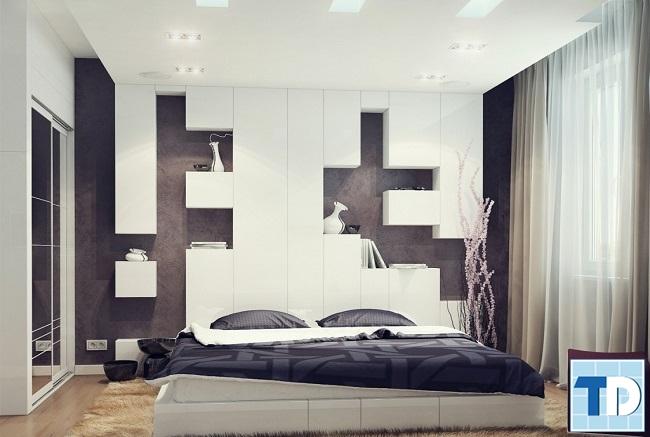 Phòng ngủ hiện đại với thiết kế ấn tượng