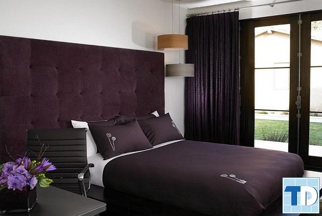 Phòng ngủ đẹp với gam tím trắng