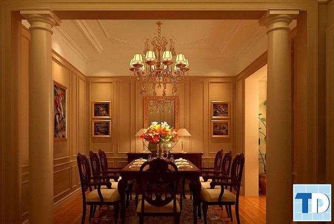Phòng ăn nhà phố tân cổ điển