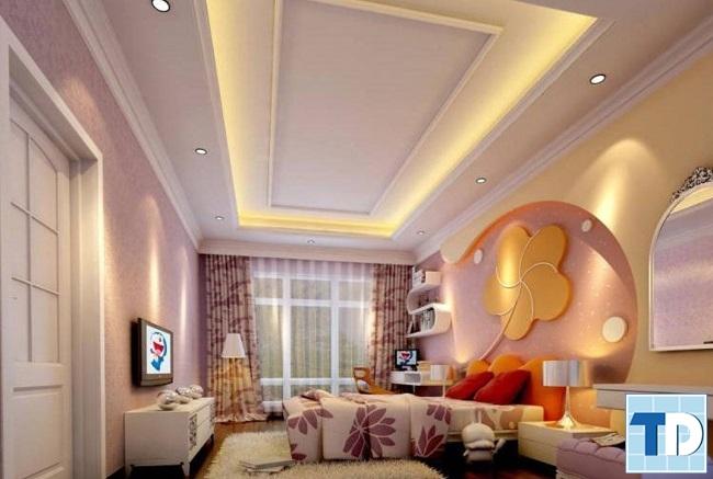 Phòng ngủ con gái đáng yêu xinh xắn