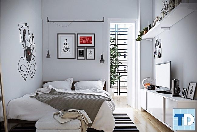 Gam màu trắng khiến căn phòng rộng hơn
