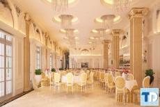 Mẫu thiết kế nội thất nhà hàng tân cổ điển đơn giản khó có thể bỏ qua