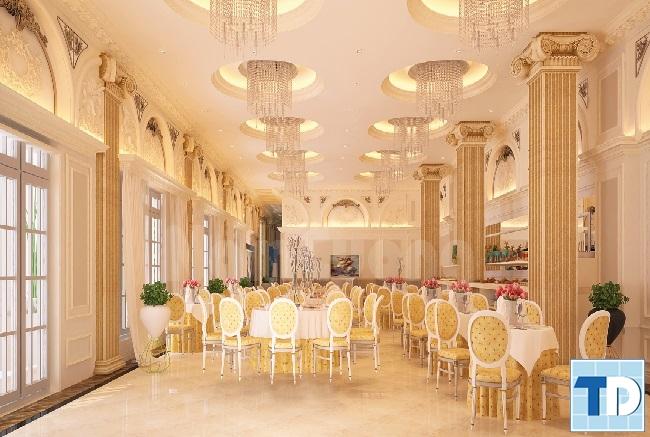 Mẫu nội thất nhà hàng tân cổ điển sang trọng