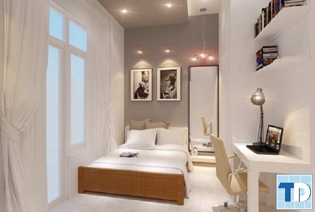 Nội thất phòng ngủ 9m2 đơn giản, ấm áp