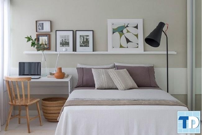 Phòng ngủ 9m2 với vật dụng tiện lợi