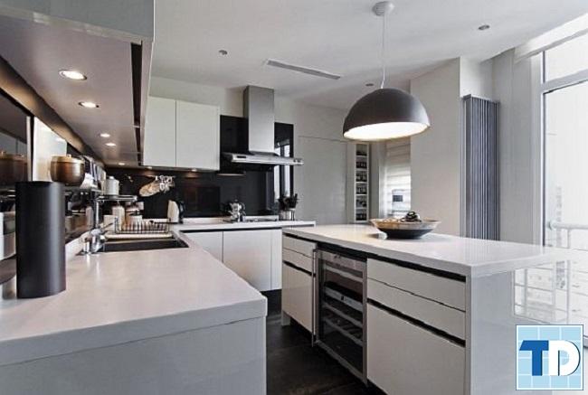 Phòng bếp với thiết kế tiện nghi