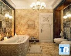 Nội thất nhà tắm tân cổ điển đẹp sang trọng phong cách Châu Âu