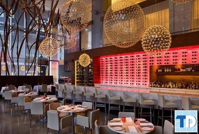 Không gian nhà hàng với lối trang trí tinh tế