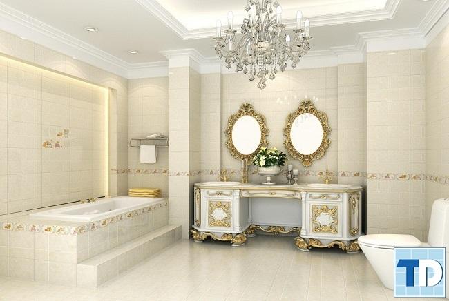 Mẫu nội thất phòng tắm tân cổ điển
