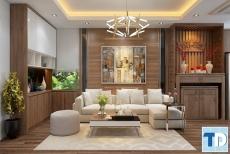 Thiết kế nội thất căn hộ CT1-1013 chung cư cao cấp Tràng an Complex