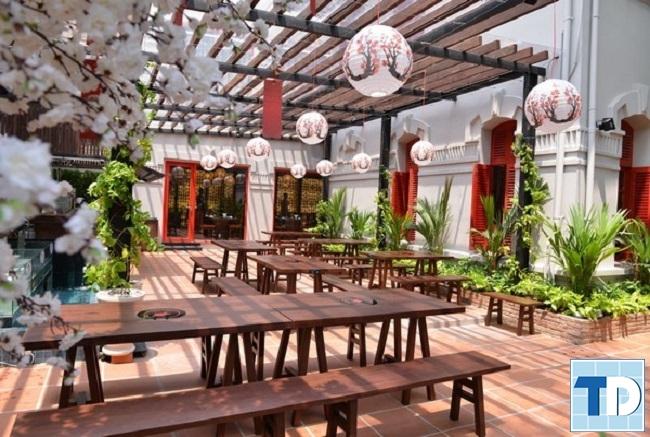 Không gian nhà hàng ngoài trời