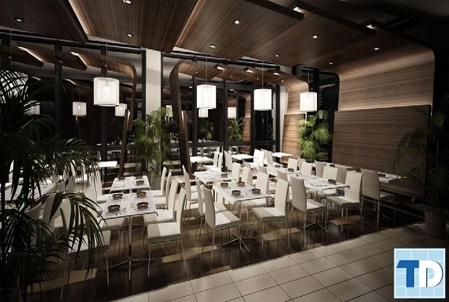 Nội thất nhà hàng hiện đại, thanh lịch
