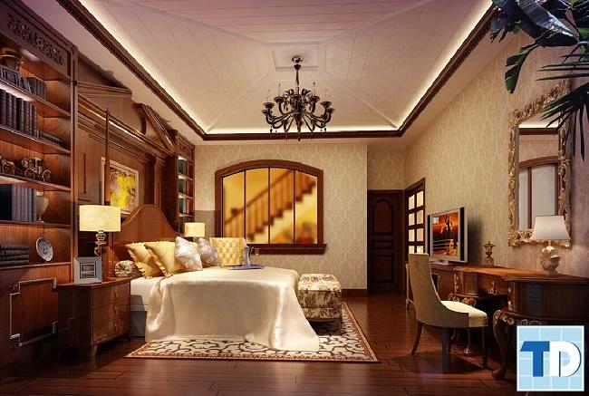 Phòng ngủ master lãng mạn, ấm cúng