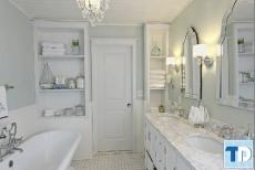 Đẹp từng centimet với thiết kế nội thất nhà tắm tân cổ điển đơn giản đẹp